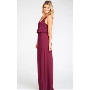 Show me your MuMu Kendall Maxi Dress Merlot Large